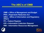 the abc s of omb