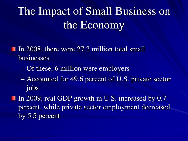 The Impact of Small Business on the Economy