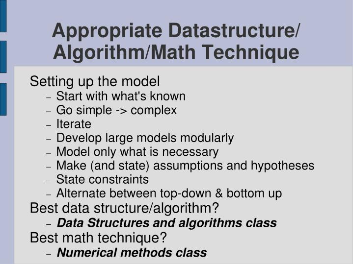 Appropriate Datastructure/