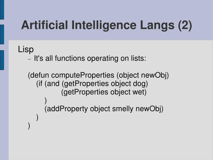 Artificial Intelligence Langs (2)