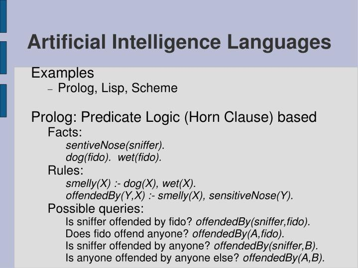 Artificial Intelligence Languages