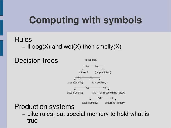 Computing with symbols