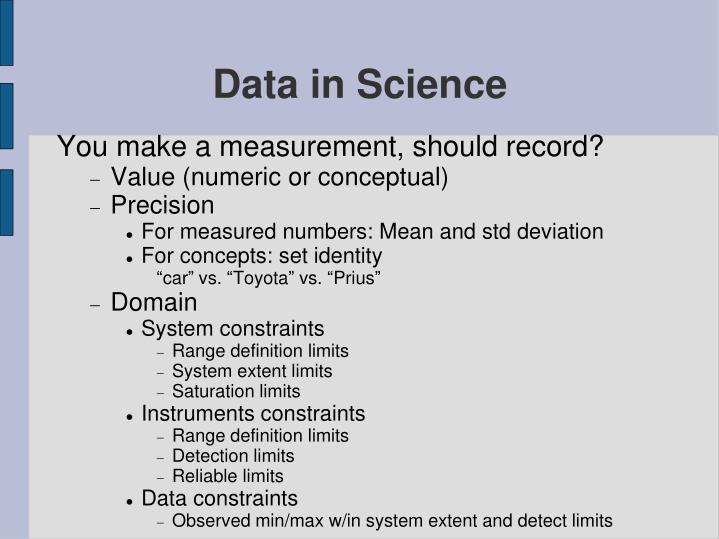 Data in Science