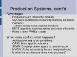 production systems cont d