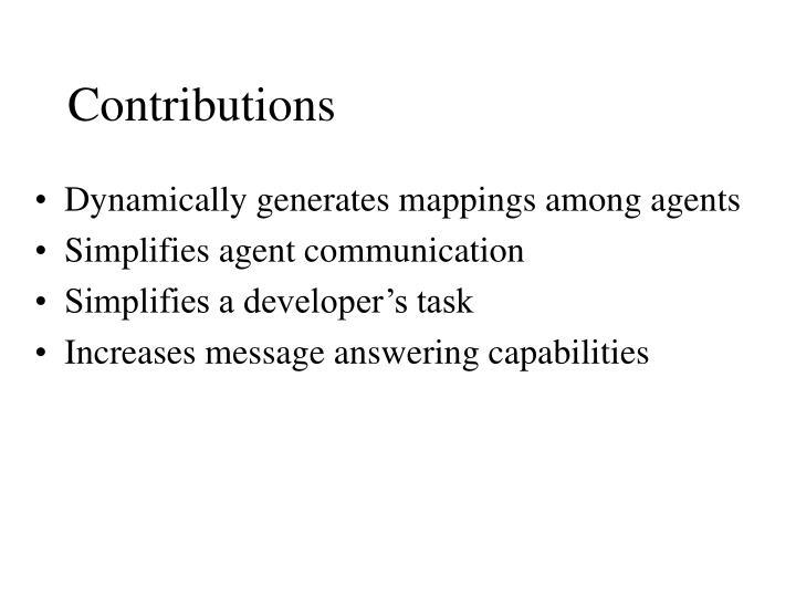 Contributions