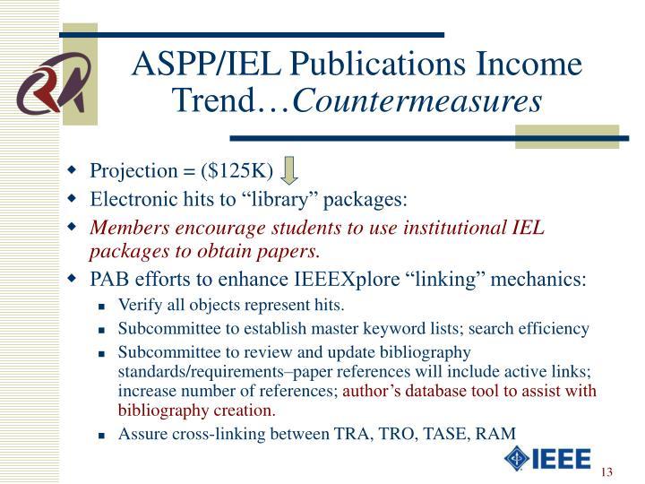 ASPP/IEL Publications Income Trend…