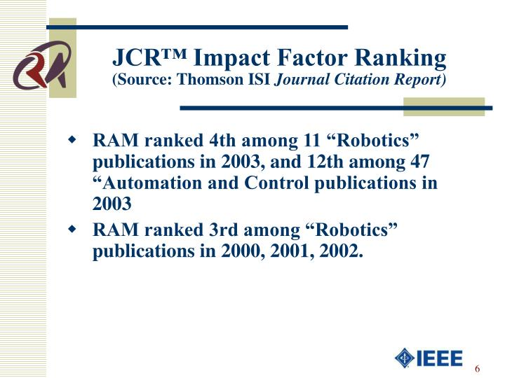 JCR™ Impact Factor Ranking
