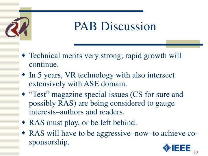 PAB Discussion