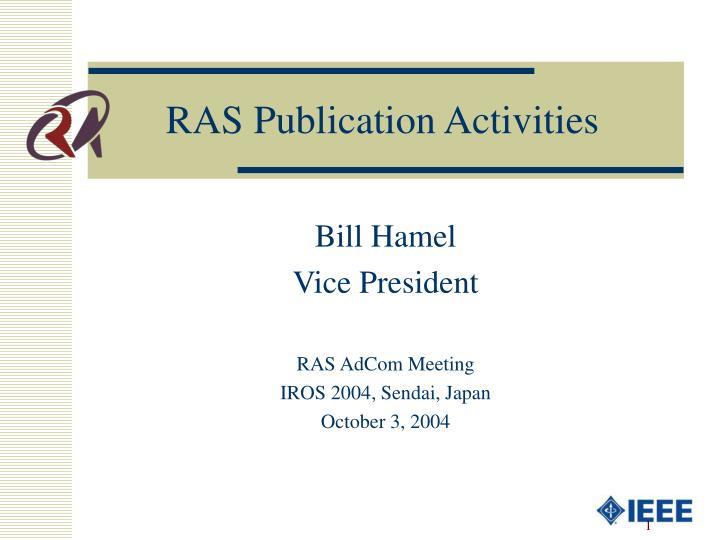 RAS Publication Activities