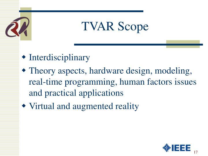 TVAR Scope