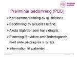 prelimin r bed mning pbd