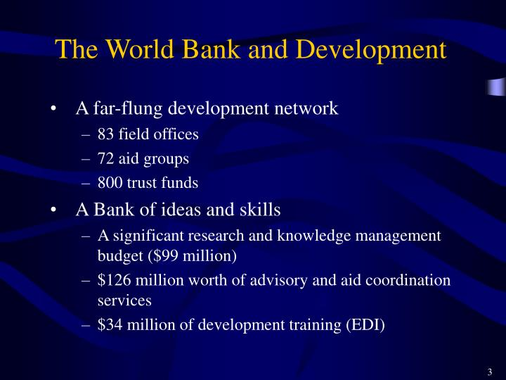 The World Bank and Development