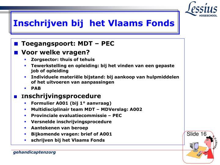 Inschrijven bij  het Vlaams Fonds