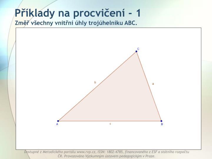Příklady na procvičení - 1