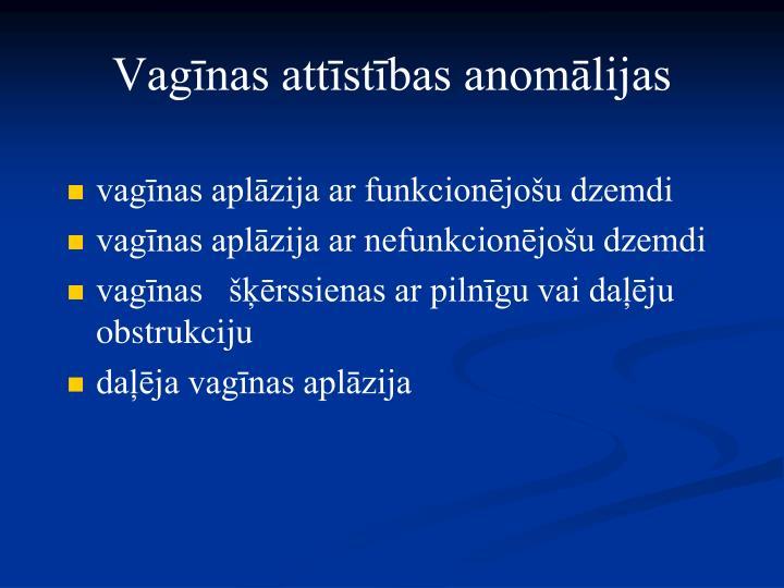 Vagīnas attīstības anomālijas