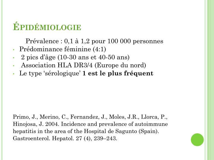 Épidémiologie