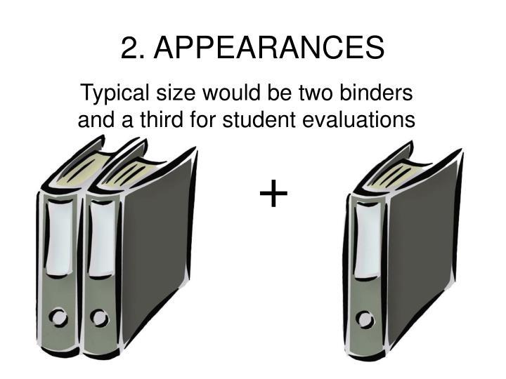 2. APPEARANCES