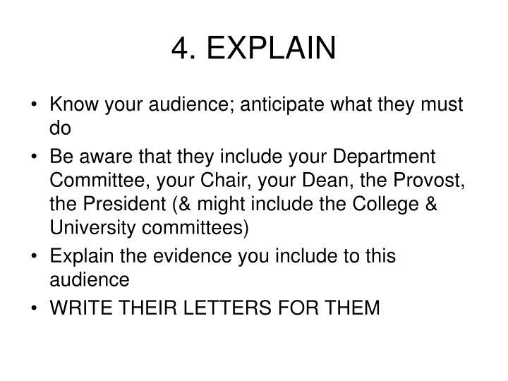 4. EXPLAIN