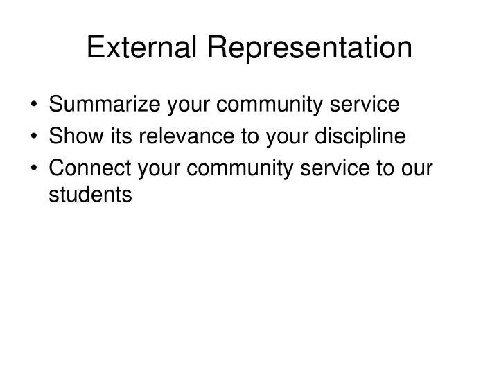 External Representation