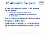 3 1 alternative dial plans