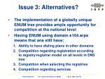 issue 3 alternatives