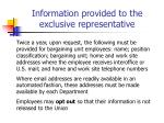information provided to the exclusive representative