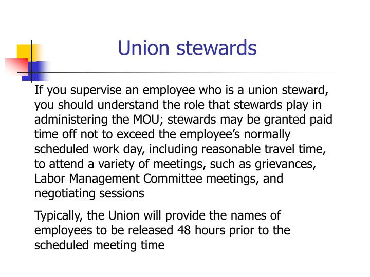 Union stewards