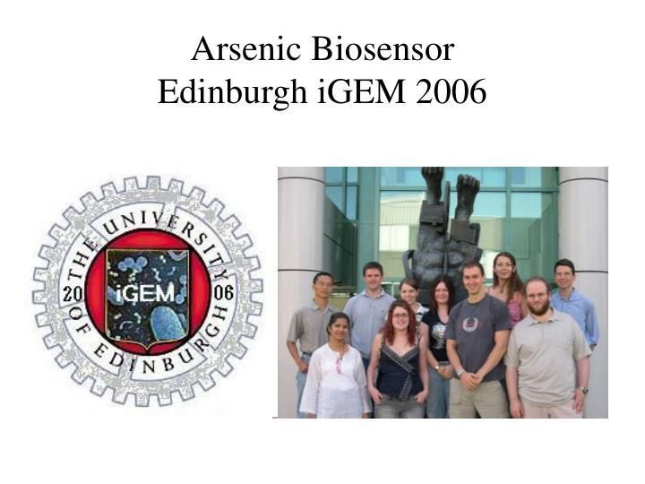 Arsenic Biosensor