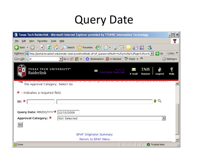Query Date