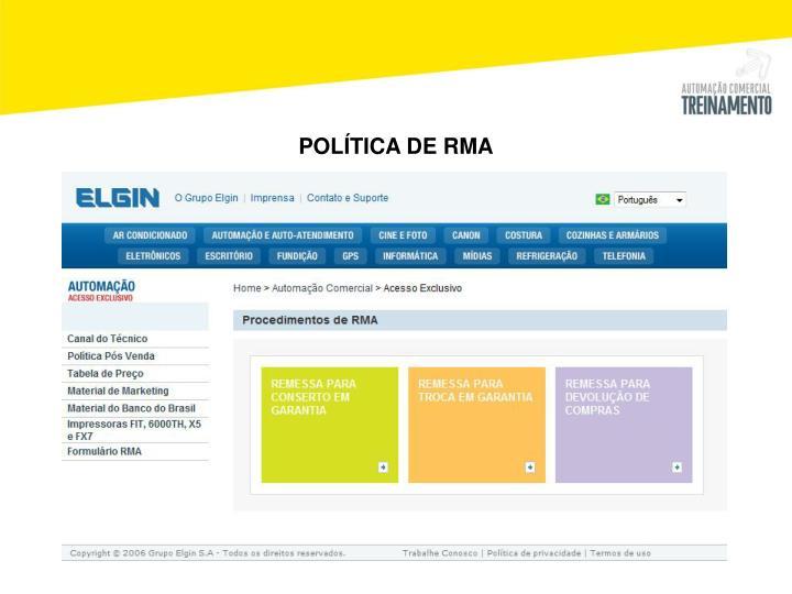 POLÍTICA DE RMA