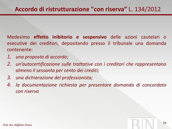 """Accordo di ristrutturazione """"con riserva"""""""