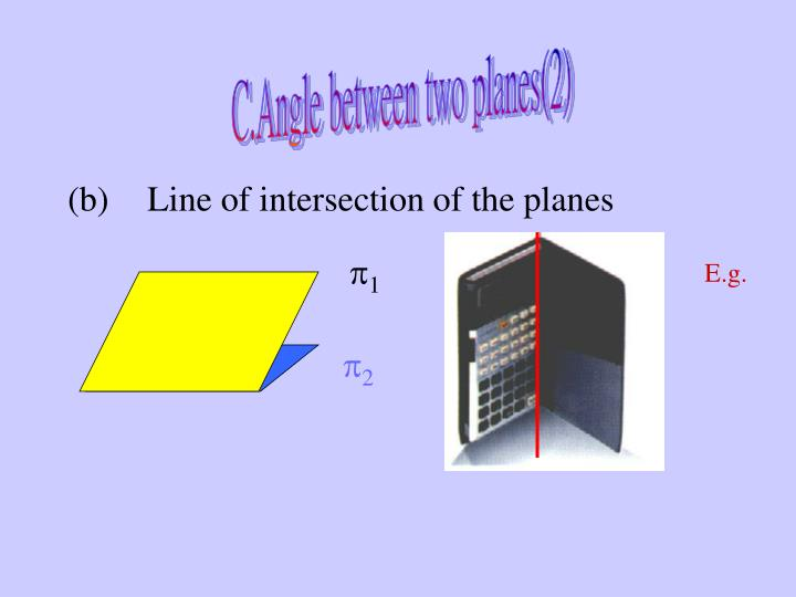C.	Angle between two planes(2)