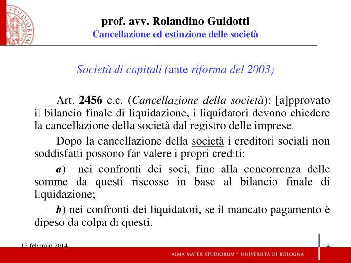 prof. avv. Rolandino Guidotti