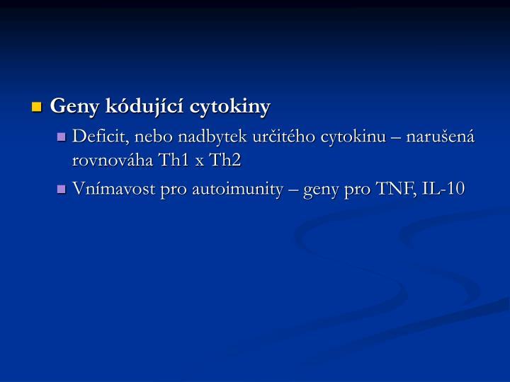 Geny kódující cytokiny