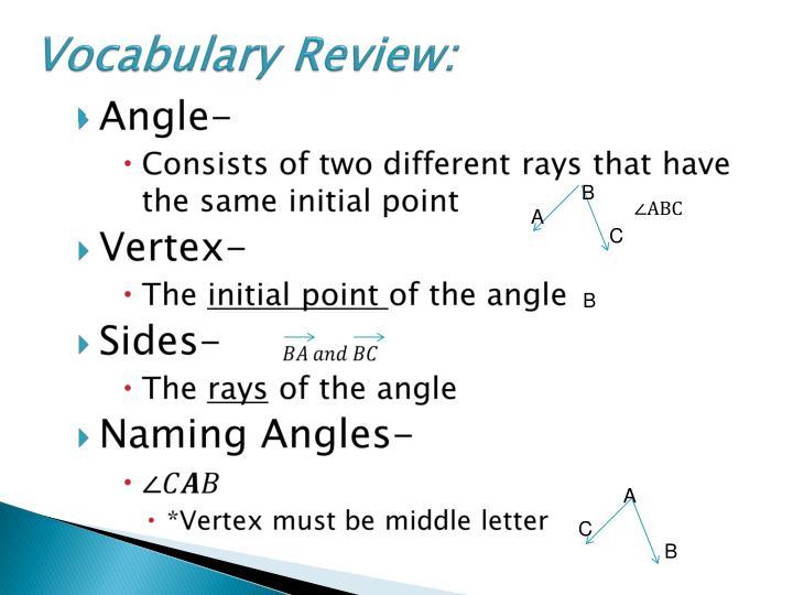 Vocabulary Review: