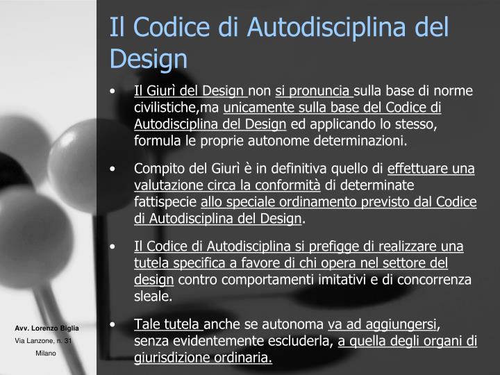 Il Codice di Autodisciplina del Design