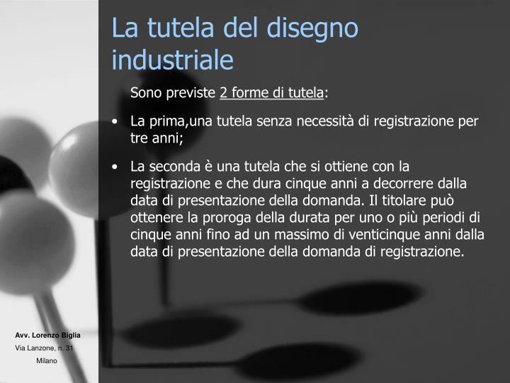 La tutela del disegno industriale