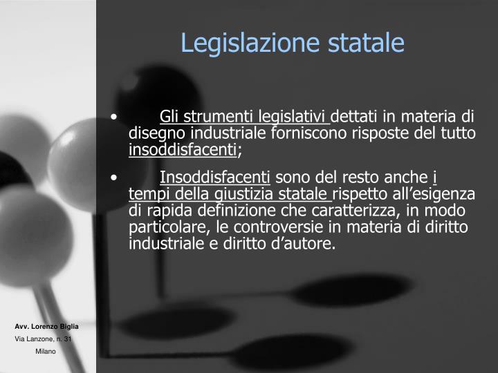 Legislazione statale