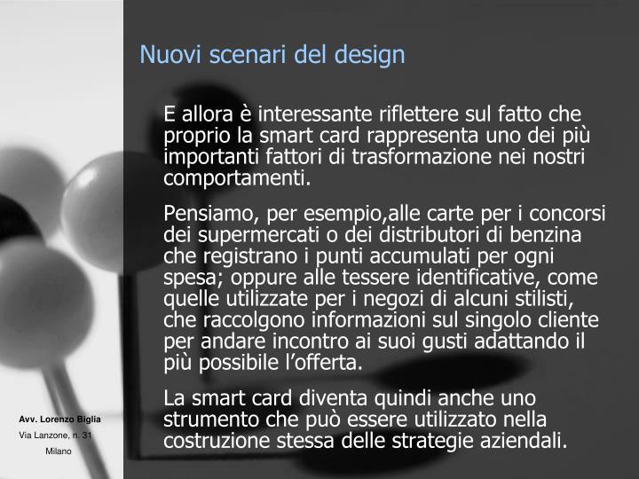 Nuovi scenari del design