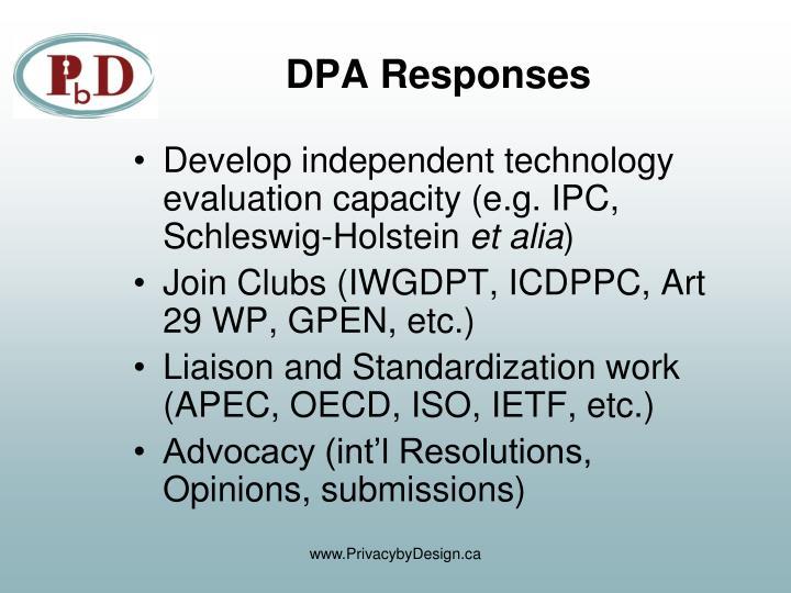 DPA Responses