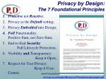 privacy by design the 7 foundational principles