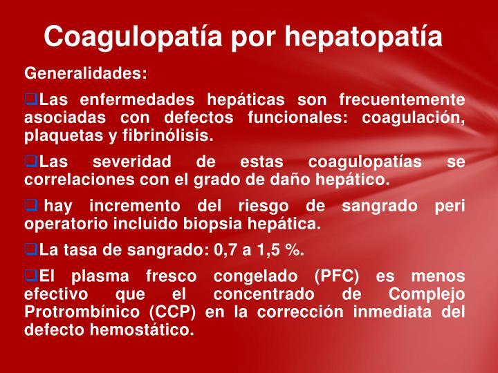 Coagulopatía por hepatopatía