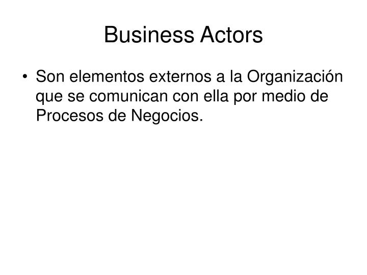 Business Actors