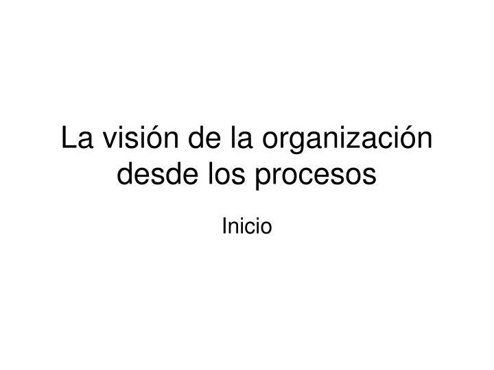 la visi n de la organizaci n desde los procesos