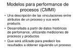modelos para performance de procesos cmmi