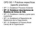 opd sg 1 pr cticas espec ficas specific practices1