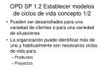 opd sp 1 2 establecer modelos de ciclos de vida concepto 1 2