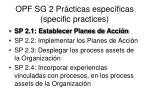opf sg 2 pr cticas espec ficas specific practices