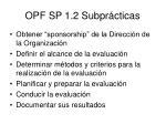 opf sp 1 2 subpr cticas