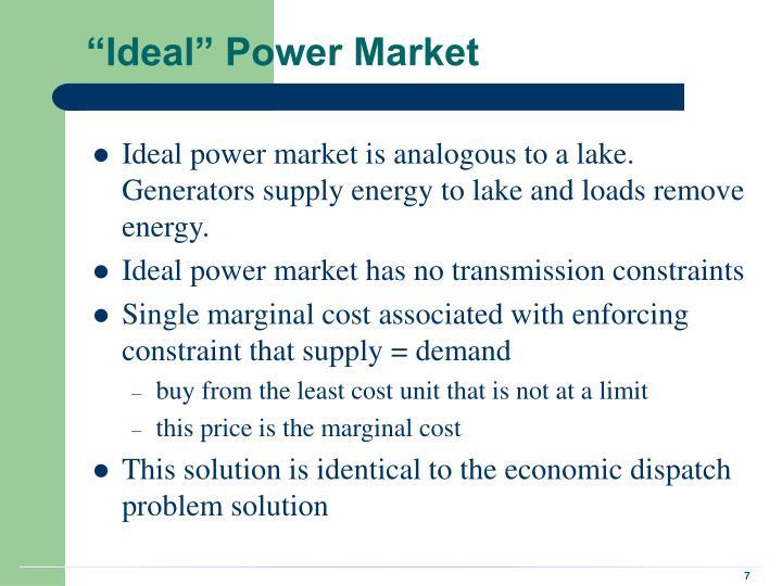 """""""Ideal"""" Power Market"""